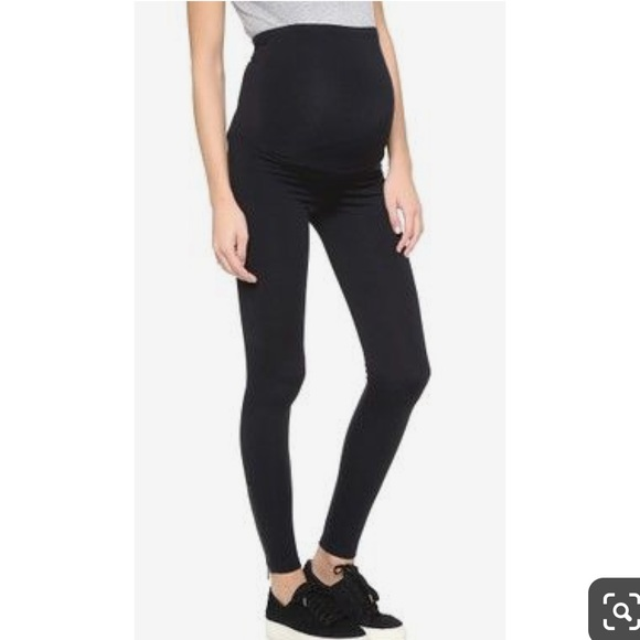 b5cf7f48689ac David Lerner Pants - David Lerner Maternity Zipper Leggings Black M